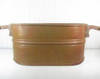 antique copper wash tubcopper pot antique copper bucket copper pan farmhouse