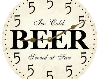 It's Five Somewhere Wall Clock- Beer Clock