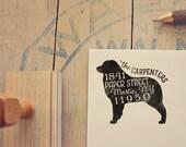 Australian Shepherd Dog Return Address Stamp, Housewarming & Dog Lover Gift, Personalized Rubber Stamp, Wood Handle