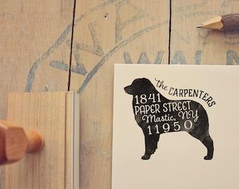 Australian Shepherd Address Stamp - Dog Return Address Stamp - Dog Lover Gift - Rubber Stamp - Personalized Pet Address Stamp