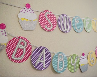 Sprinkled with Love Baby Sprinkle Banner ; Sweet Baby Girl Cupcake Banner ; Baby Sprinkle Shower ; Baby Sprinkle Decorations ; Cupcake Decor