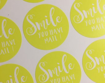 Smile You Have Mail Happy Mail Stickers 37mm