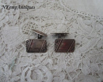Real silver cufflinks 1930's