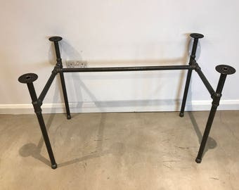 Captivating Black Steel Pipe Desk/Table Legs