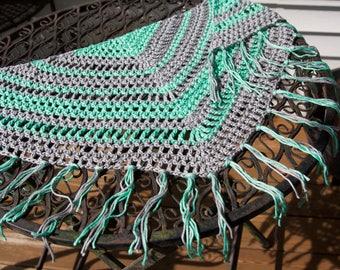 Crochet Fringe Triangle Scarf