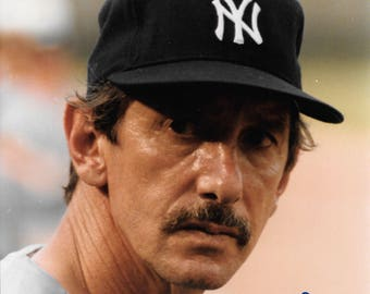 NY Yankee Billy Martin Manager Signed Color 8 x10 Photo With Bonus Limited Edition Print..Mint Condition!! Best Offers! + FREE SHIPPING!!