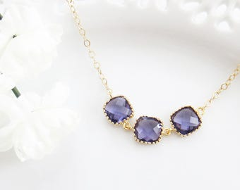 Purple Necklace, February Birthstone, Amethyst Necklace, Mothers Day Gift, Wedding Necklace, Gift for Mom, Bridesmaid Gift, Gift for Wife