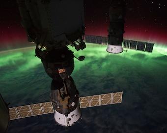 Soyuz Sat, Aurora Australis, Australis, Southern Lights, Satellite Photo