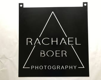 3ft Custom metal sign with YOUR NAME or logo