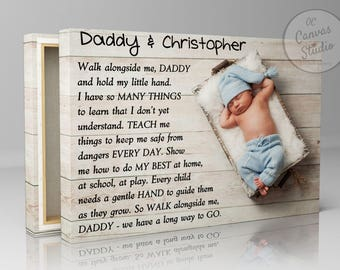 Walk With Me Daddy, Personalized Father's Day Gift, Gift For Dad, First Father's Day, Gift For Husband, New Father, Birthday Gift For Dad