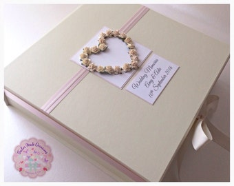 Large Personalised Wedding Keepsake Box. In Your Colour Choice