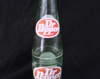 6-1/5 oz. Green Glass Dr. Pepper Bottles (Sold in Lots of 2)