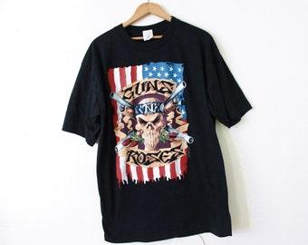 LARGE Vintage 1991 Guns 'N' Roses Graphic T-Shirt
