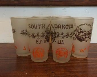 South Dakota Souvenir Glasses