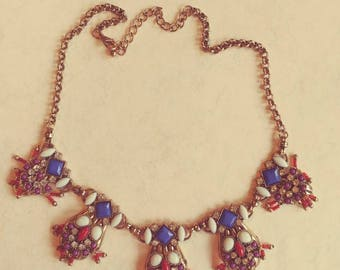 Vintage Art Deco Owl Necklace