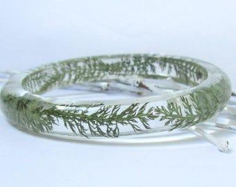 nature bracelet, nature jewelry, resin jewelry, leaf bracelet, botanical bracelet, real plant bracelet, woodland bracelet, bangle bracelet