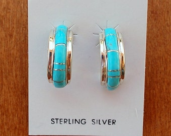Native American Turquiose Sterling Post earrings