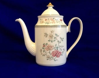 Minton Jasmine Coffee Pot Bone China Made In England  (D)
