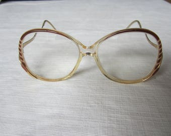 Vintage Fancy Zyloware Estate  Eye Glasses in Frame