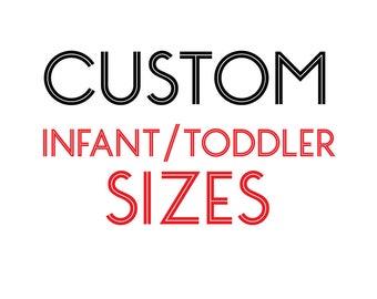 INFANT & TODDLER Size - Custom Black T-Shirt