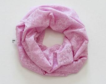 Toddler's Infinity Scarf. Child Pink Eyelet Scarf.