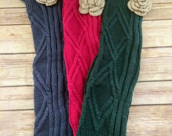 Lace leg warmers, Boot Warmer With Lace And Crochet Rose
