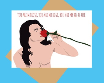 The Room greeting card - Tommy Wiseau - You are my Rose - Funny love card