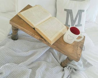 Breakfast/Bed Tray finished in a custom stain.