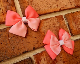 Sleeping Princess Basic or Deluxe Boutique Hair Bow - 3-1/2 inch Alligator Clip Single or Stacked Bow