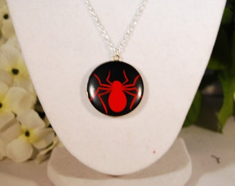 Spiderman Inspired Locket Necklace