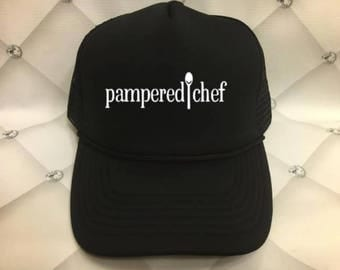 Pampered Chef, Hat, Trucker Hat, Mesh Hat, Baseball Hat, Fashionable Hat, PC PC Hat