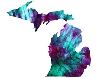 Michigan Tie Dye Vinyl Decal Sticker A05