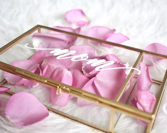Mothers Day Gift / Gift for Mom / Personalized Glass Box Personalized Jewelry Box / Bridesmaid Gift / Personalized Gift r /jewelry storage