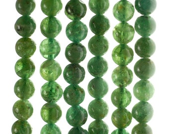 6-7mm Green Apatite Gemstone Grade A Round Loose Beads 15.5 inch Full Strand (80000908-155)