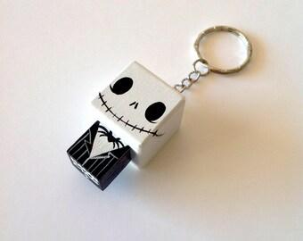 """Porte-clés Figurine cubique """"Jack"""" - peinte à la main"""