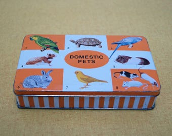 Vintage Riley's Domestic Pets tin