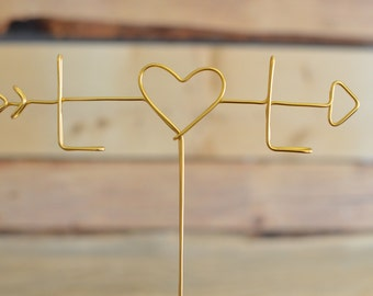 Wire Cake Topper, Wedding Cake Topper, Initial Cake Topper, Custom Cake Topper, Custom Wedding Cake Topper, Custom Wire Cake Topper,