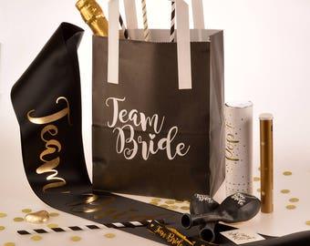 5 x Team Bride Hen Party Bags - Hen Party Goody Bags - Hen Party Gift Bags - Hen Night Accessories