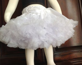 Girl Tutu Skirt, Yellow Tutu Skirt, White Tutu Skirt, Girl Summer Skirt.