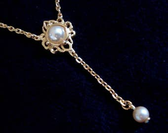 Pearl Drop Pendant Necklace Quality Gift NEW condition #130