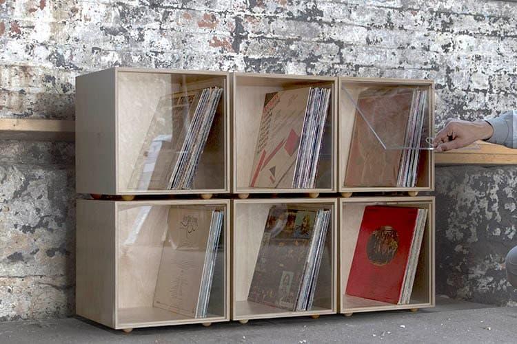 Stackable Storage Cube Clear Vinyl Lp Record Storage