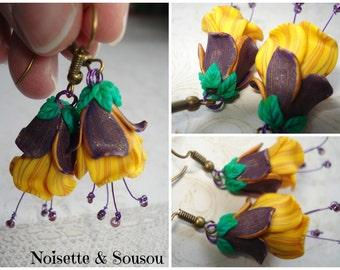 Bohemian flower bells spring earrings
