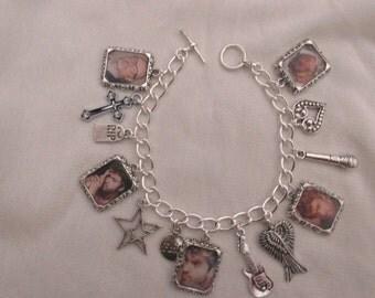 George Michael Photo  Charms Bracelet