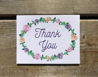 Floral Thank You Card - Set of 10