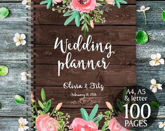 Rustic wedding binder, Printable wedding planner, Floral wedding binder, DIY wedding binder, Wedding checklist,  Wedding to do list