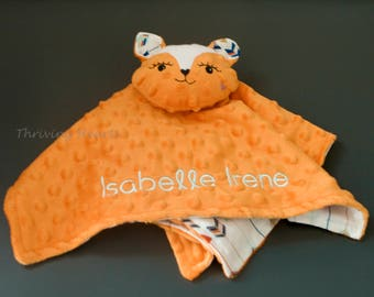 Snuggle fox blanket. Personalized too!