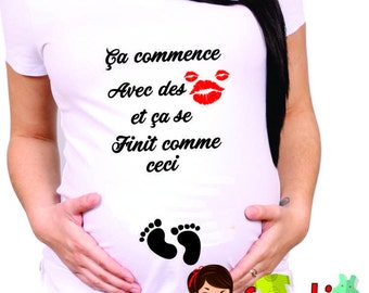 funny MATERNITY SHIRT can be made in english ask us cm315