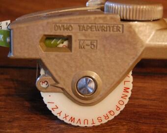 Vintage Office Label Maker, vintage office decor, vintage signs, vintage advertising, vintage Dymo Tapewriter with tape