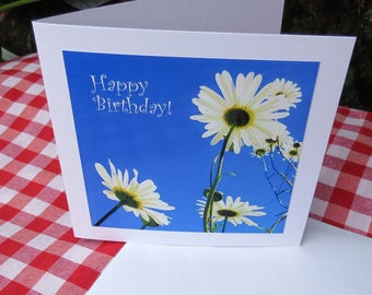 Happy Birthday!  A card featuring an original photograph.  Left blank inside for your own message.