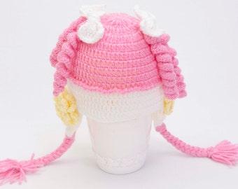 Crochet  girl aby Hat, Toddler hat ,children hat ,Newborn hat ,toddler crochet hat ,baby hat